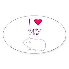 I Love My Guinea Pig Decal