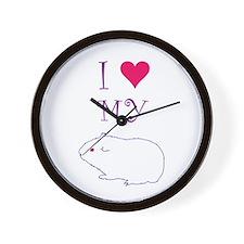 I Love My Guinea Pig Wall Clock
