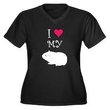 I Love My Guinea Pig Women's Plus Size V-Neck Dark