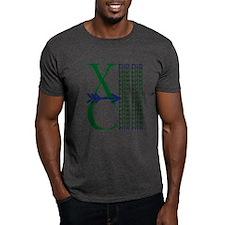 XC Run Dark Green Navy T-Shirt