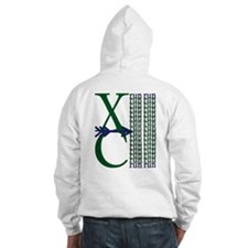 XC Run Dark Green Navy Hoodie