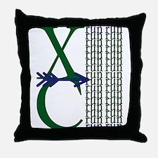 XC Run Dark Green Navy Throw Pillow