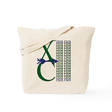 XC Run Dark Green Navy Tote Bag