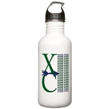 XC Run Dark Green Navy Water Bottle