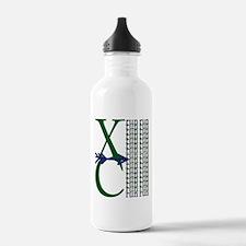 XC Run Dark Green Navy Water Bottle