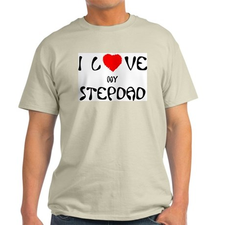 I Love My Stepdad Ash Grey T-Shirt