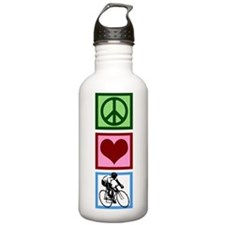 Peace Love Cycling Sports Water Bottle