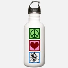 Peace Love Cycling Water Bottle