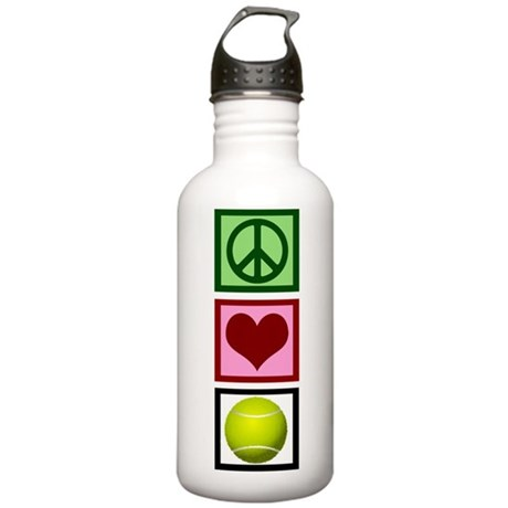 Peace Love Tennis Stainless Water Bottle 1.0L