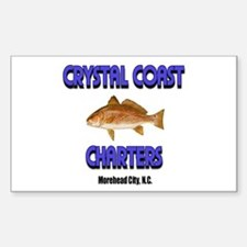 Crystal Coast Charters 2 Rectangle Decal