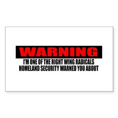 Right Wing Radical Decal