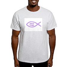 Jesus Freak Purple Ash Grey T-Shirt