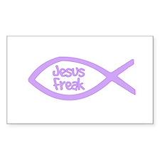 Jesus Freak Purple Rectangle Decal