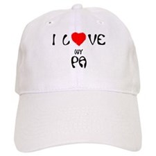I Love My Pa Baseball Cap