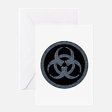 Gray Biohazard Greeting Card