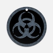 Gray Biohazard Ornament (Round)