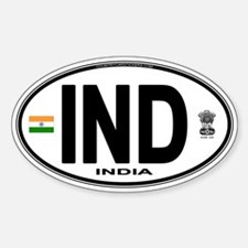 India Euro Oval (IND) Decal