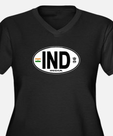 India Euro Oval (IND) Women's Plus Size V-Neck Dar