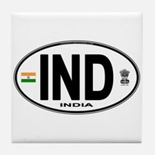 India Euro Oval (IND) Tile Coaster