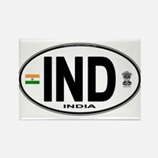 India Euro Oval (IND) Rectangle Magnet