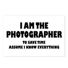 I am the Photographer Postcards (Package of 8)