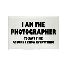 I am the Photographer Rectangle Magnet