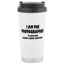 I am the Photographer Travel Mug