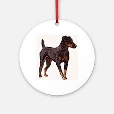 Jagdterrier portrait Ornament (Round)