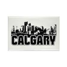 Calgary Skyline Rectangle Magnet