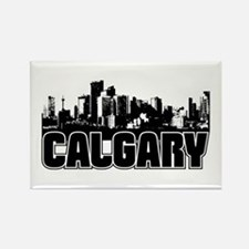 Calgary Skyline Rectangle Magnet
