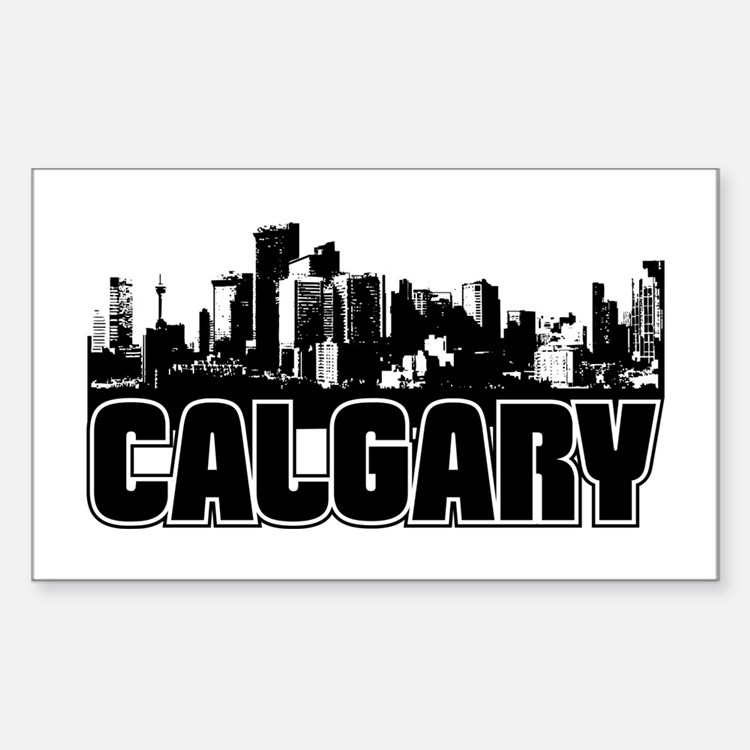 Calgary Skyline Decal