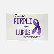 Wear Purple - Lupus Rectangle Magnet
