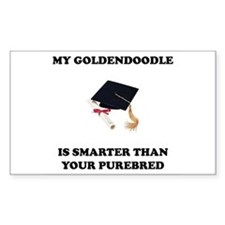 Goldendoodle Smarter Rectangle Decal