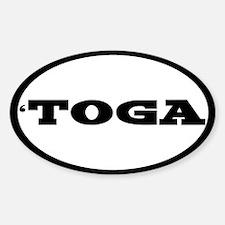 Saratoga Sticker Sticker (Oval)