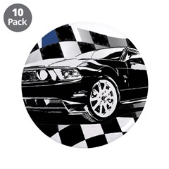 """Mustang 2011 3.5"""" Button (10 pack)"""