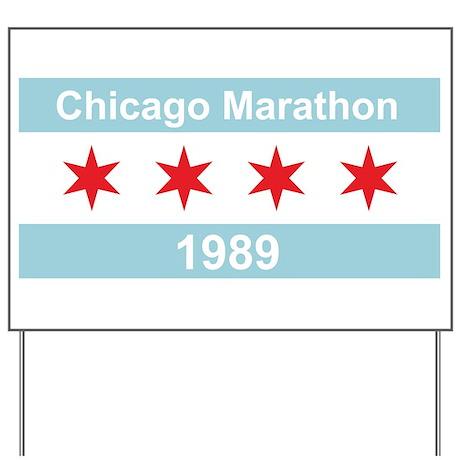 1989 Chicago Marathon Yard Sign