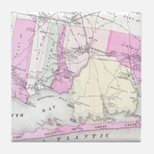 Vintage Brookhaven and Fire Island NY Tile Coaster