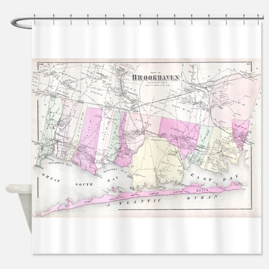 Vintage Brookhaven and Fire Island Shower Curtain