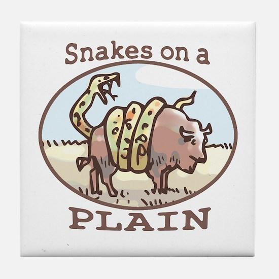 Snakes on a Plain Tile Coaster