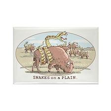 Snakes on a Plain Rectangle Magnet