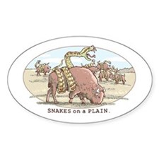 Snakes on a Plain Oval Decal