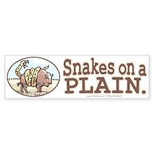 Snakes on a Plain Bumper Bumper Sticker