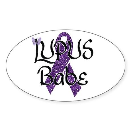 Lupus Babe Sticker (Oval 10 pk)
