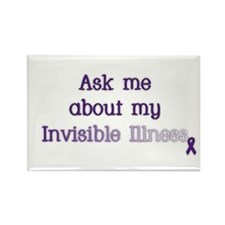 Invisible Illness - Lupus Rectangle Magnet