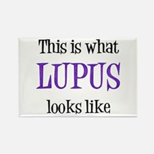 This is what Lupus looks like Rectangle Magnet
