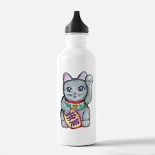 Lucky Cat Maneki Neko Water Bottle