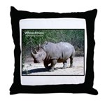White Rhino Rhinoceros Photo Throw Pillow
