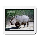 White Rhino Rhinoceros Photo Mousepad