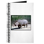 White Rhino Rhinoceros Photo Journal