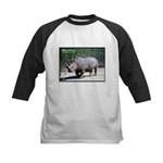 White Rhino Rhinoceros Photo Kids Baseball Jersey